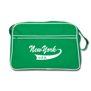 Retro-Tasche NEW YORK USA braun/sand - Retro Tasche