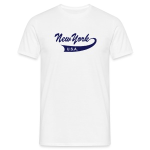 T-Shirt NEW YORK USA weiß - Männer T-Shirt