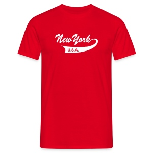 T-Shirt NEW YORK USA rot - Männer T-Shirt