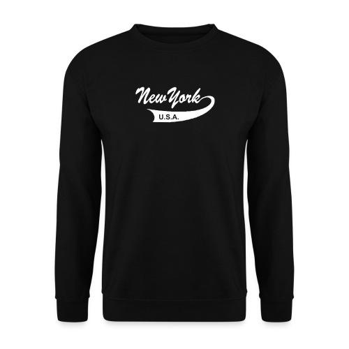Sweatshirt NEW YORK USA schwarz - Männer Pullover