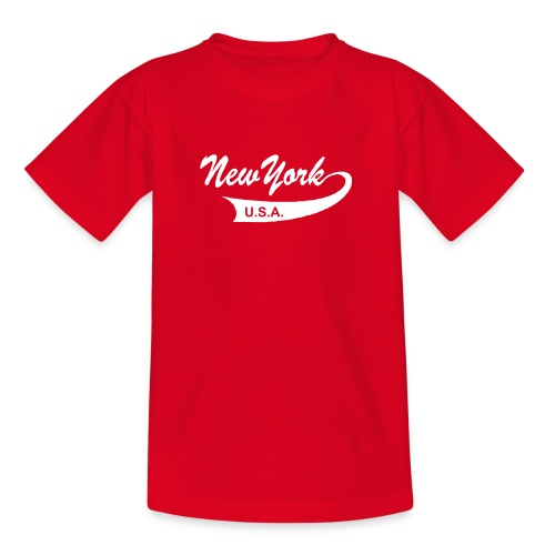 Kinder T-Shirt NEW YORK USA rot - Teenager T-Shirt