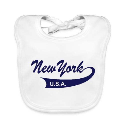 Babylätzchen NEW YORK USA weiß - Baby Bio-Lätzchen