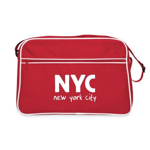 Retro-Tasche NYC rot/weiß - Retro Tasche