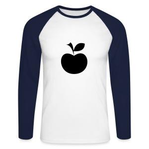 'n appeltje voor de dorst - Mannen baseballshirt lange mouw