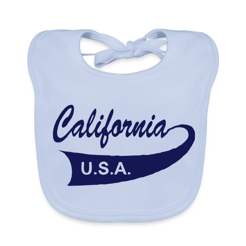 Babylätzchen CALIFORNIA USA sky blue - Baby Bio-Lätzchen