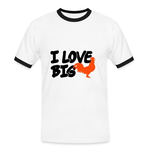 Mens Contrat Tee - I Love Big Cocks - Men's Ringer Shirt