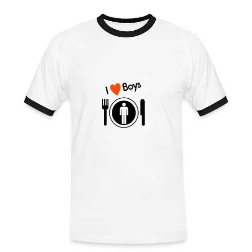 Mens Contrat Tee - i love boys - Men's Ringer Shirt