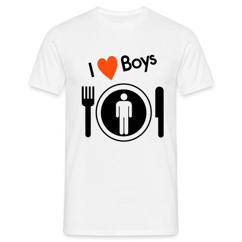 I Heart Boys T-Shirt - Men's T-Shirt