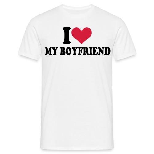 I Heart My Boyfriend T-Shirt - Men's T-Shirt