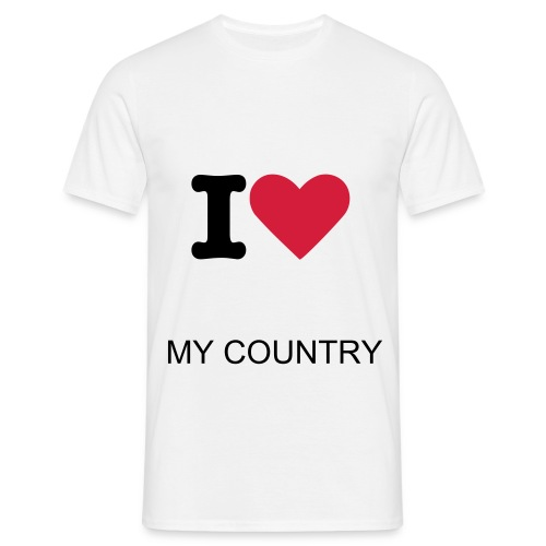 loving my country - Mannen T-shirt