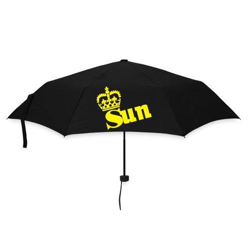 'Sun' brella  black with Crown/letters - Umbrella (small)
