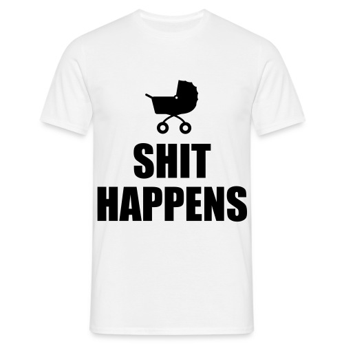 Mens 'Sh*t Happens' Tee - Men's T-Shirt