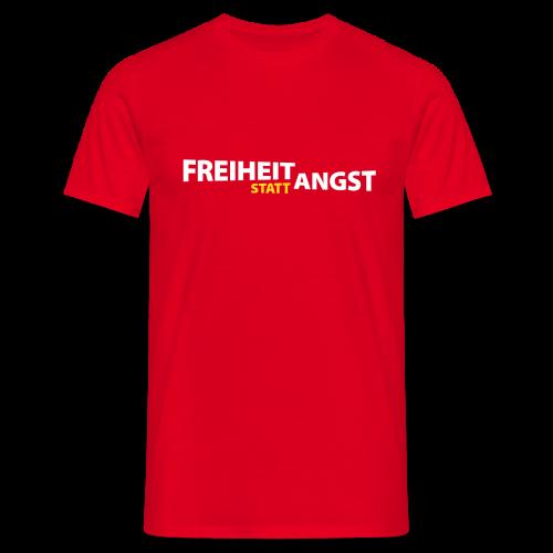 Freiheit statt Angst (rot) - Männer T-Shirt