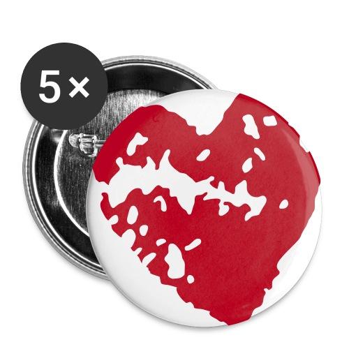 Heart Bottun 56 mm - Buttons large 2.2''/56 mm(5-pack)