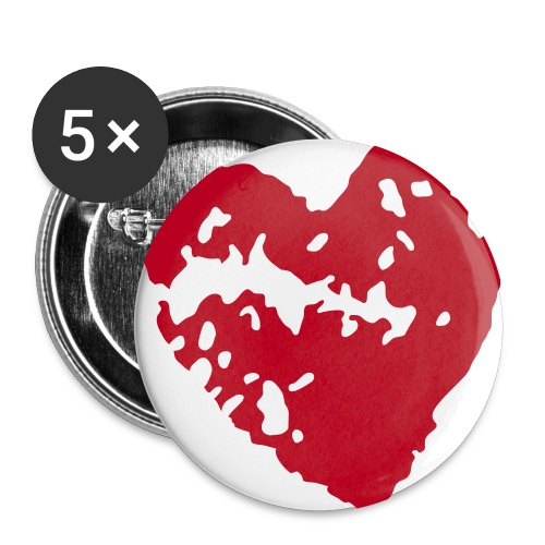Heart Bottun 56 mm - Buttons large 2.2''/56 mm (5-pack)