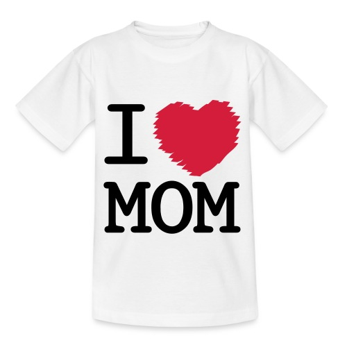 I Love Mom Kids Tee - Teenage T-Shirt