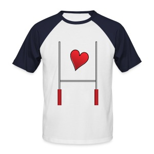 T-shirt love rugby - T-shirt baseball manches courtes Homme