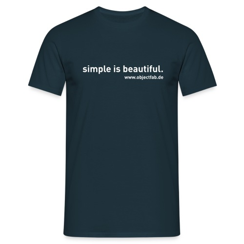 T-Shirt simple is beautiful. - Männer T-Shirt