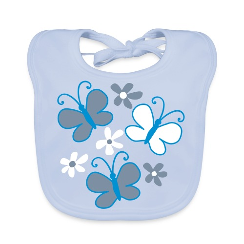 petit papillon bleu - Bavoir bio Bébé