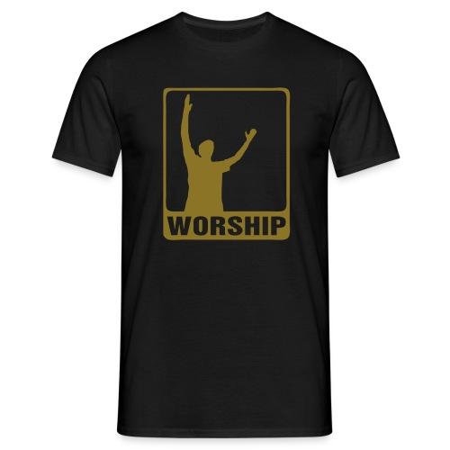 WORSHIP-black|gold (Boys) - Männer T-Shirt
