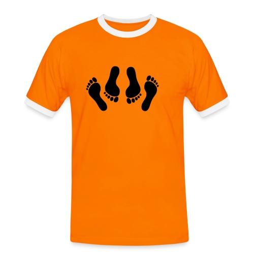 Orange make love - T-shirt contrasté Homme