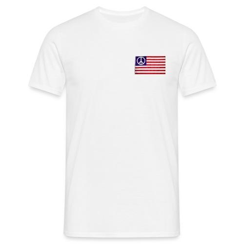 (TS) USA Peace Flag - Maglietta da uomo