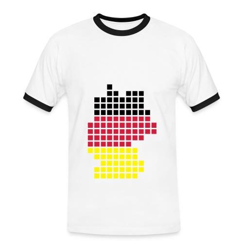 Germany Square 1 - Men's Ringer Shirt