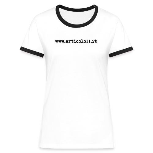 (TC) www.articolo11.it - Maglietta Contrast da donna