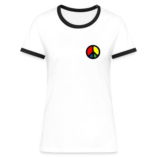 (TC) Peace Symbol C - Maglietta Contrast da donna