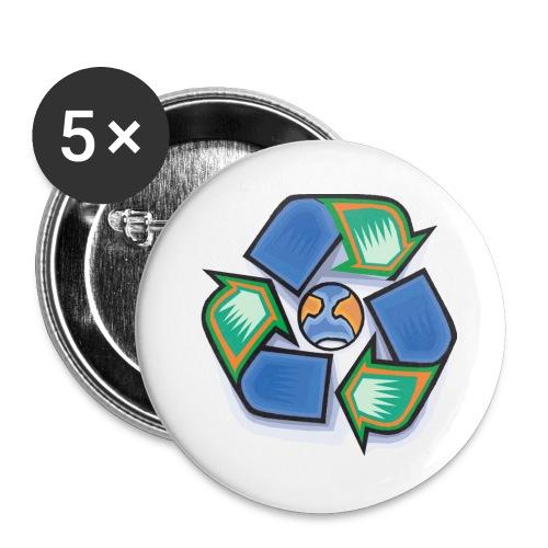 (5P) Recycle - Confezione da 5 spille grandi (56 mm)