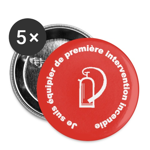 Badge pompier première intervention - Badge grand 56 mm