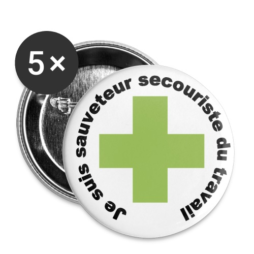 Badge secouriste - Badge grand 56 mm