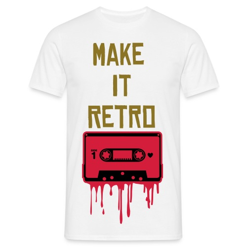 'MAKE IT RETRO' Tee. - Men's T-Shirt