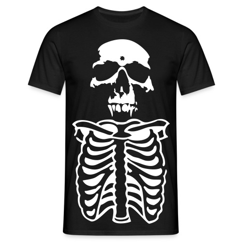 Black and white skeleton tee - Men's T-Shirt