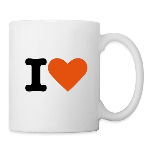 tasse i love  - Mug blanc