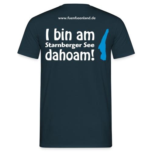 I bin am Starnberger See dahoam 2c - Männer T-Shirt