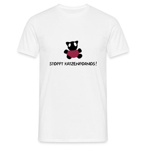 Stoppt Katzen... - Männer T-Shirt