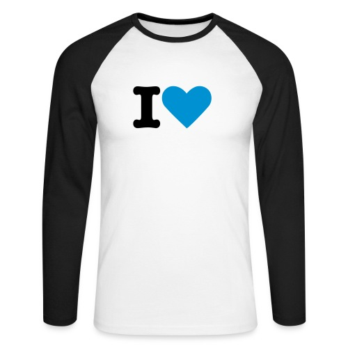 I LOVE BLUE LONG - T-shirt baseball manches longues Homme