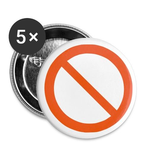 DENIED Badges - 5 PACK - Buttons medium 32 mm