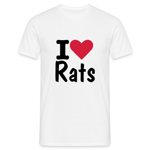 I Love Rats T - Men's T-Shirt