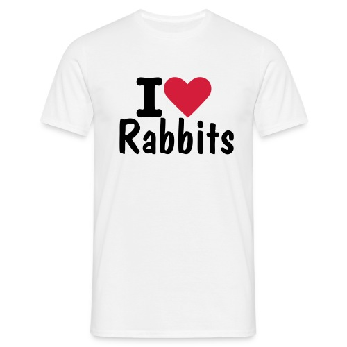 I Love Rabbits T - Men's T-Shirt