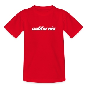 Kinder-T-Shirt california rot - Teenager T-Shirt