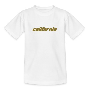 Kinder-T-Shirt california weiß - Teenager T-Shirt