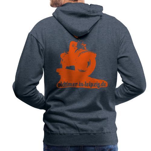 Kapuzen-Pullover mit Rückendruck - Männer Premium Hoodie