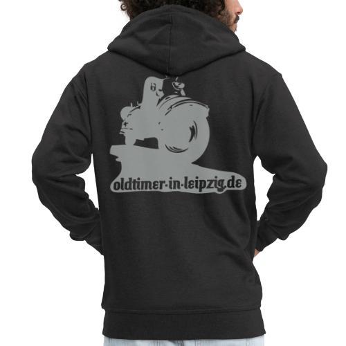 Kapuzen-Pullover mit Rückendruck - Männer Premium Kapuzenjacke