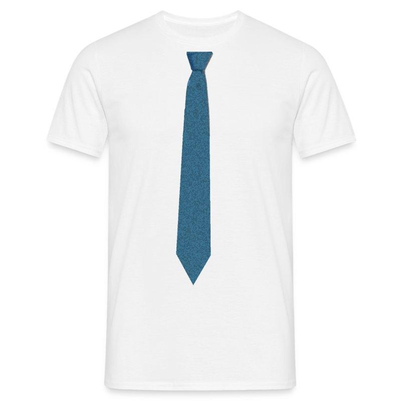 Camiseta corbata azul sobre camisa blanca for Disenos de corbatas