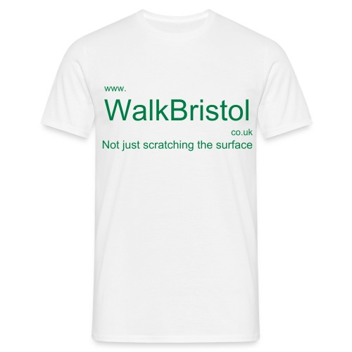 Walk Bristol  Man's white T-shirt - Men's T-Shirt