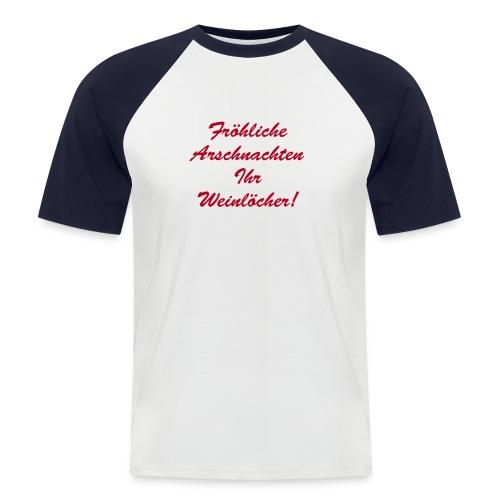 XMAS::Arschnachten - Männer Baseball-T-Shirt