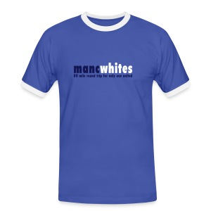 MANCWHITES 80 MILE ROUND TRIP FOR... - Men's Ringer Shirt