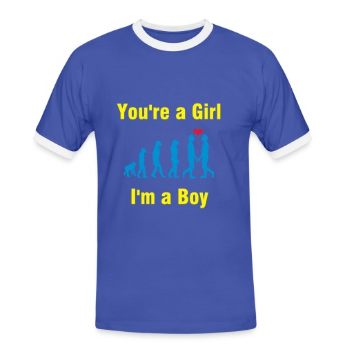 Girl and Boy - Men's Ringer Shirt